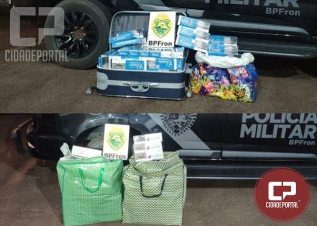 BPFRON apreende cigarros contrabandeados após abordagens a ônibus em Lindoeste