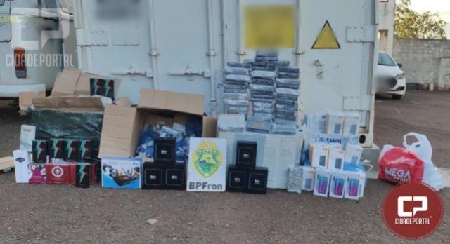 BPFRON apreende produtos oriundos do Paraguai após abordagem a ônibus em Cascavel
