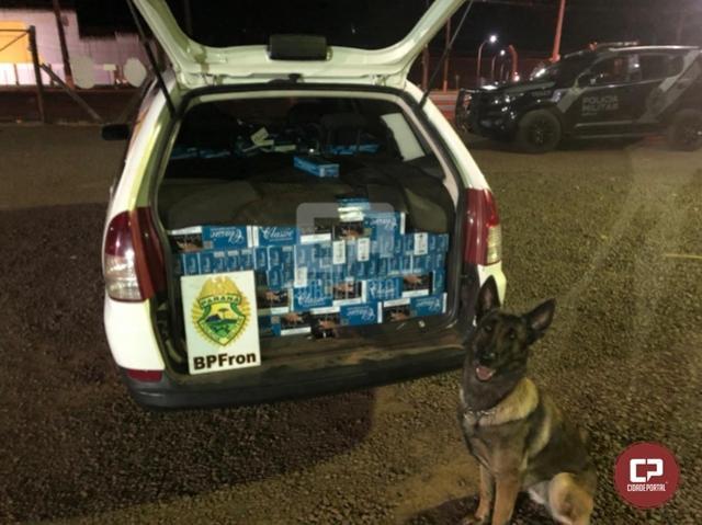 BPFron apreende veículo carregado com cigarros contrabandeados em Marechal Cândido Rondon