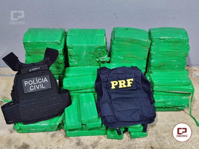 Operação policial apreende 150 kg de maconha e prende uma pessoa em Laranjeiras do Sul