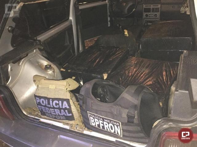 Policiais prendem homem em flagrante pela prática de contrabando em Foz do Iguaçu