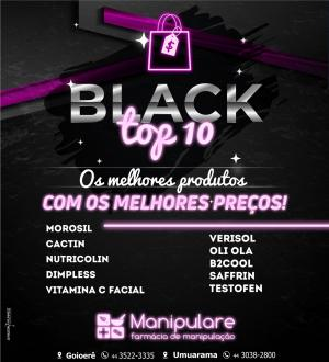 Os 10 produtos mais vendidos da Manipulare estão no Black