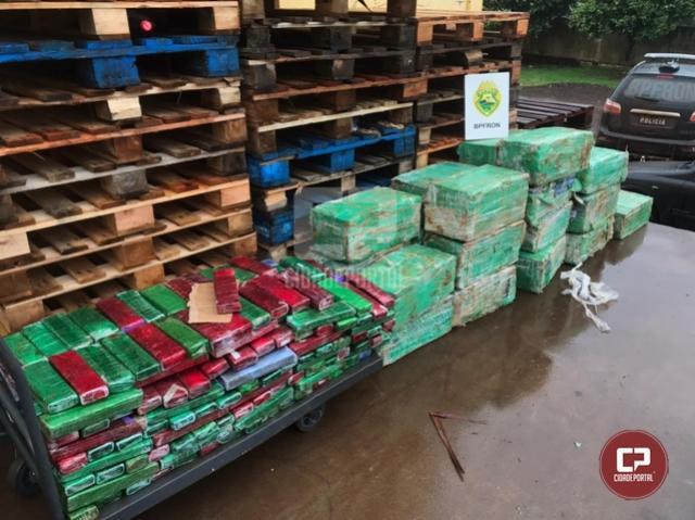 BPFron apreende 814 kg de maconha em Marechal Cândido Rondon durante Operação Hórus