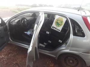 BPFRON apreende veículo carregado com vinhos contrabandeados em Santo Antônio do Sudoeste
