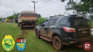 BPFron apreende caminhão carregado com cigarros contrabandeados em Diamante do Oeste
