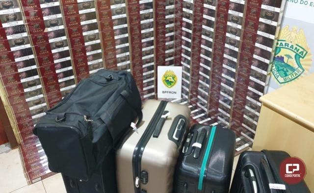 BPFRON apreende grande quantidade de cigarros contrabandeados em Santa Tereza do Oeste
