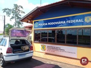 PRF apreende 108 quilos de maconha em Quatro Pontes