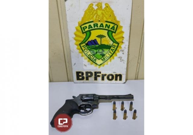 BPFron apreende arma de fogo em veículo durante Operação Hórus em Realeza