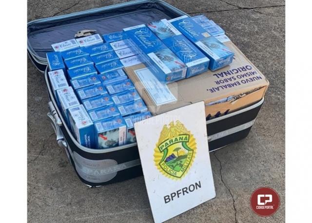 BPFron apreende contrabando em ônibus durante Operação Hórus em Santa Terezinha de Itaipu