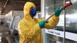 No combate à Covid-19, Toledo realiza desinfecção de locais públicos
