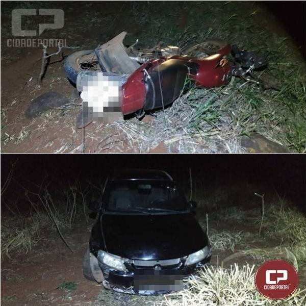 Três pessoas ficam feridas em acidente na PR-317 no município de São José das Palmeiras