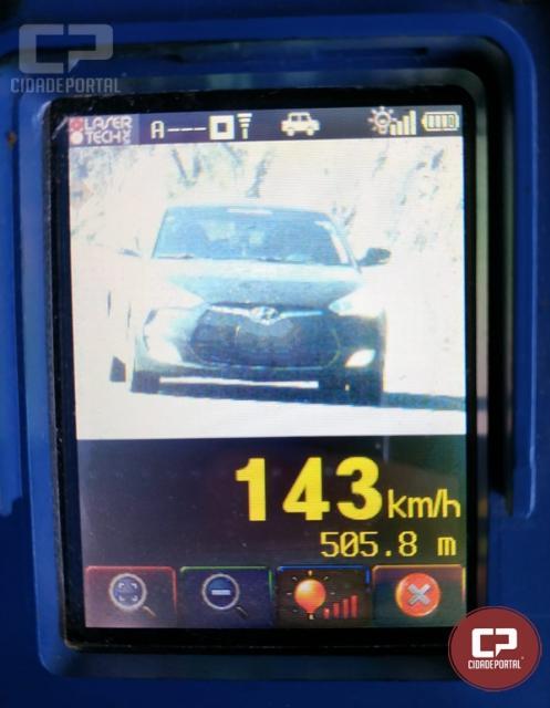 PRE autua 32 motoristas em operação radar no município de Três Barras do Paraná