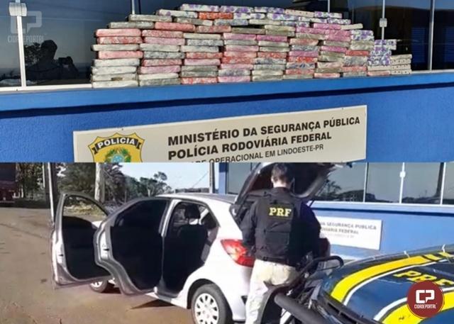 PRF apreende 78 quilos de maconha em Lindoeste