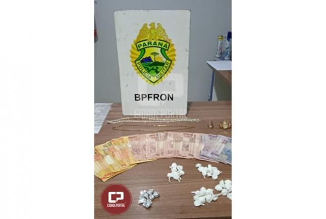 BPFron apreende pedras de crack e invólucros com cocaína em Santa Terezinha de Itaipu