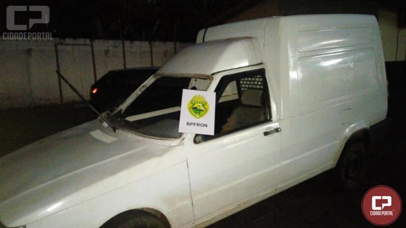 BPFron apreende veículo preparado para contrabando em Mercedes