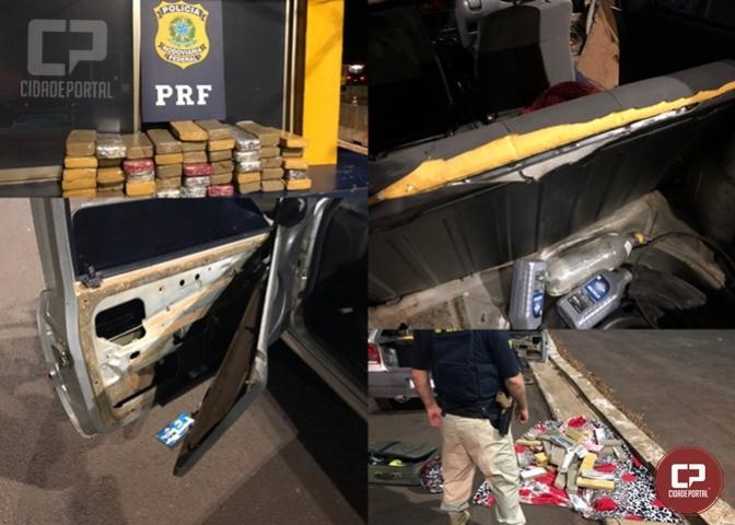 PRF apreende 43 kg de entorpecentes em Santa Terezinha