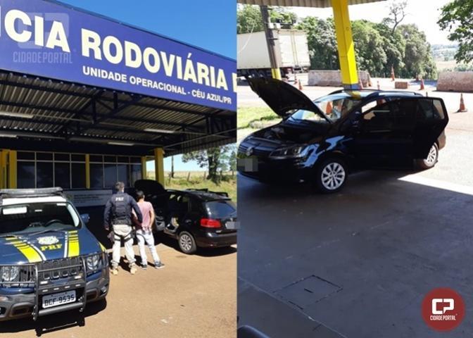 PRF recupera em Céu Azul veículo furtado na cidade de Curitiba