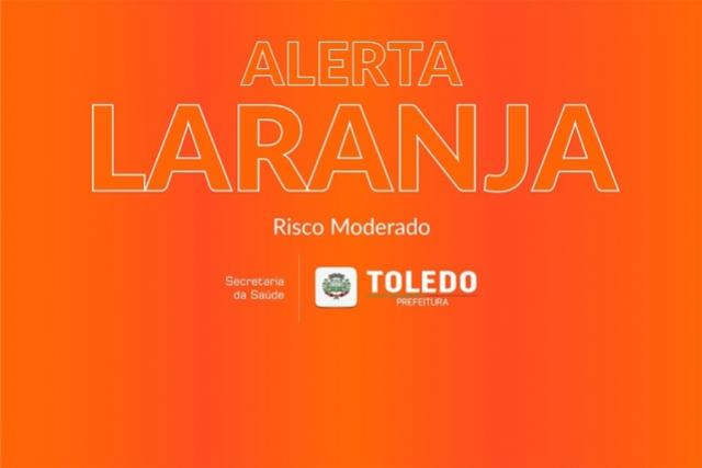 Casos de Covid-19 aumentam 116% e Toledo volta para o Alerta Laranja