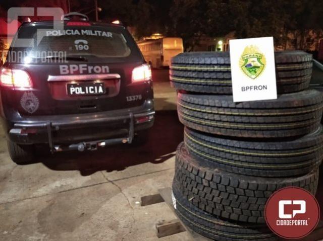 Operação Hórus realiza a apreensão de 5 pneus de caminhão