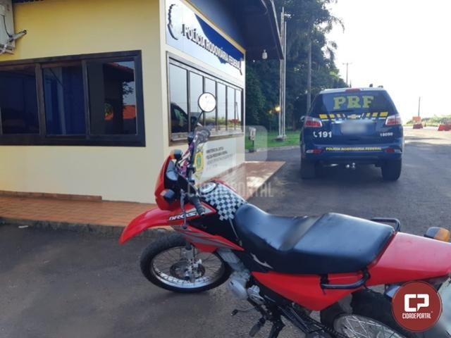 Após denúncia anônima, PRF recupera moto em Marechal Cândido Rondon