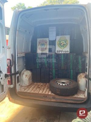 BPFron e PF apreendem veículo com cigarros contrabandeados em Medianeira
