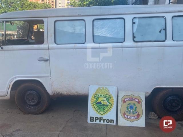 BPFron e PF apreendem veículo carregado com cigarros contrabandeados em Itaipulândia
