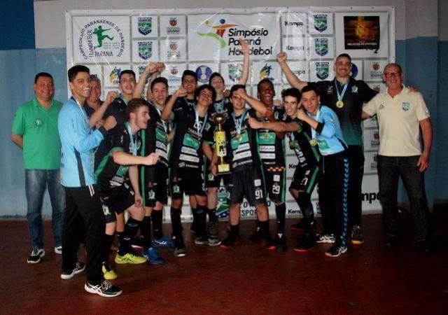 Quatro equipes comemoram título do Campeonato Paranaense de Handebol Cadete em Toledo