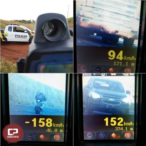 Durante operação radar em Cascavel PRE autua 32 motoristas por excesso de velocidade