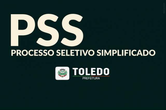 Abertas inscrições para Processos Seletivos Simplificados em Toledo