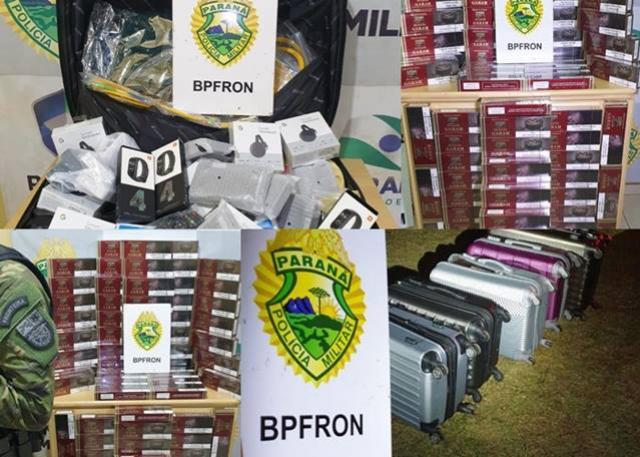 BPFRON apreende contrabando em ônibus na cidade de Cascavel durante Operação Hórus