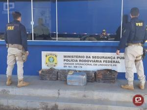 PRF apreende 131 kg de maconha em Lindoeste