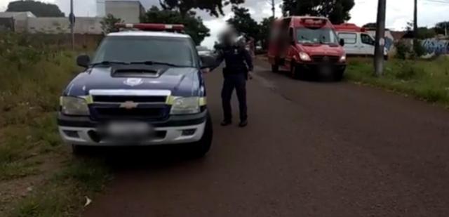 Motocicletas se envolvem em batida no Bairro Santa Cruz em Cascavel