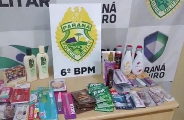 Travesti é detida após furto de produtos em dois supermercados de Cascavel