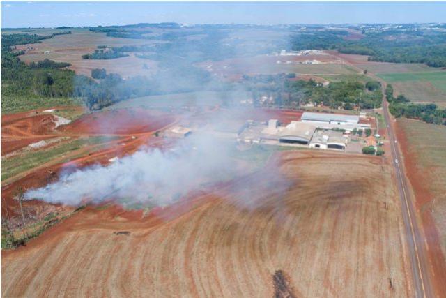 Antigo Lixão pega fogo em Toledo