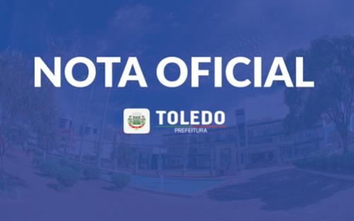 Nota Oficial sobre o Hospital Regional de Toledo