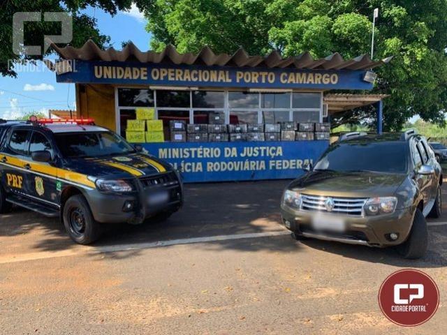 PRF recupera carro roubado e apreende mais de meia tonelada de maconha em Alto Paraíso