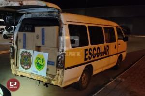 BPFron e PF apreendem duas vans carregadas com cigarros contrabandeados em Mercedes