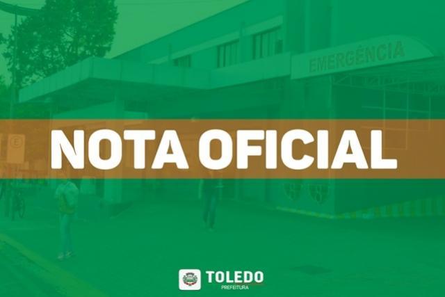 Toledo registra primeiro óbito de moradora, cuja suspeita da causa é a COVID-19