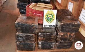BPFRON apreende mais de uma tonelada e meia de maconha em Santa Helena