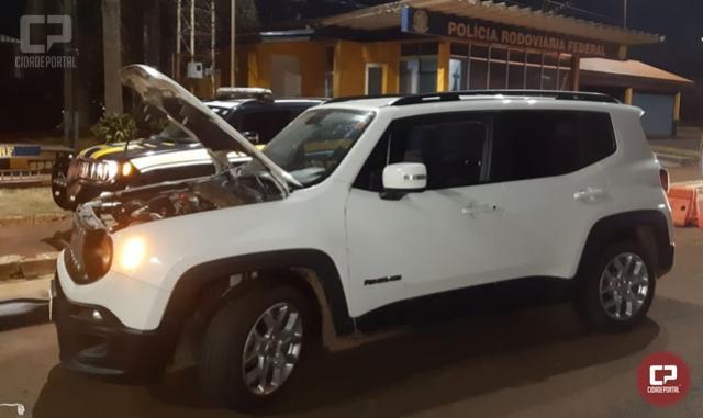 PRF recupera em Santa Terezinha de Itaipu veículo roubado em Caxias do Sul