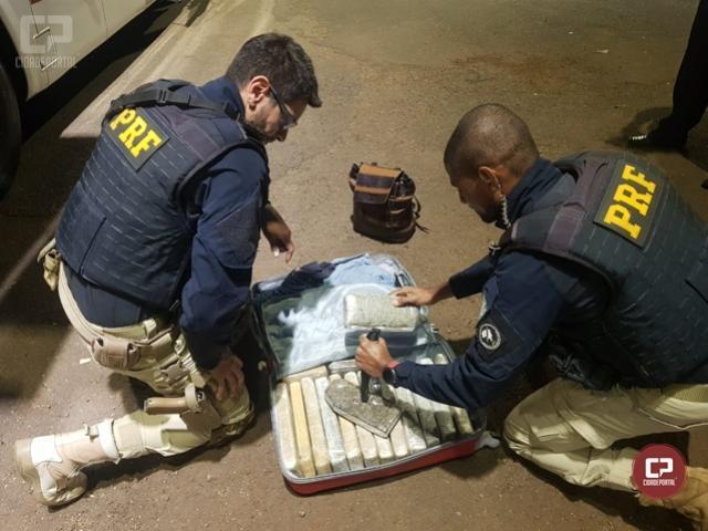 PRF prende mulher transportando entorpecente em Céu Azul