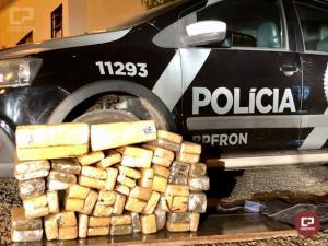BPFRON apreende 45 kg de maconha na cidade de São Miguel do Iguaçu