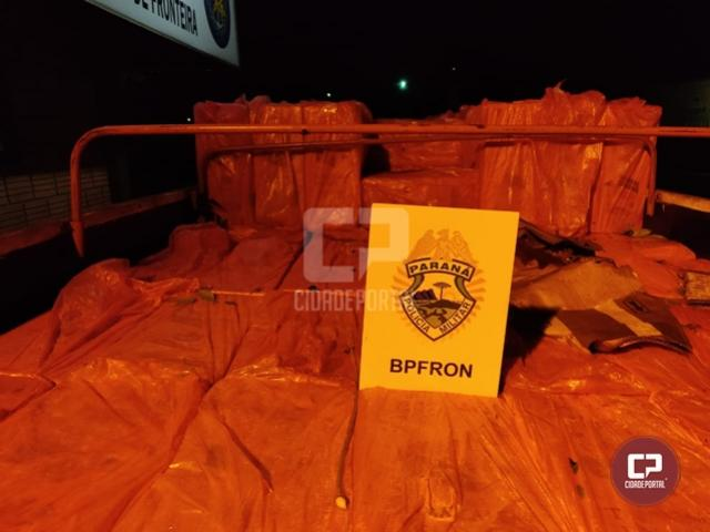 BPFron apreende caminhão carregado com cigarros contrabandeados em Entre Rios do Oeste