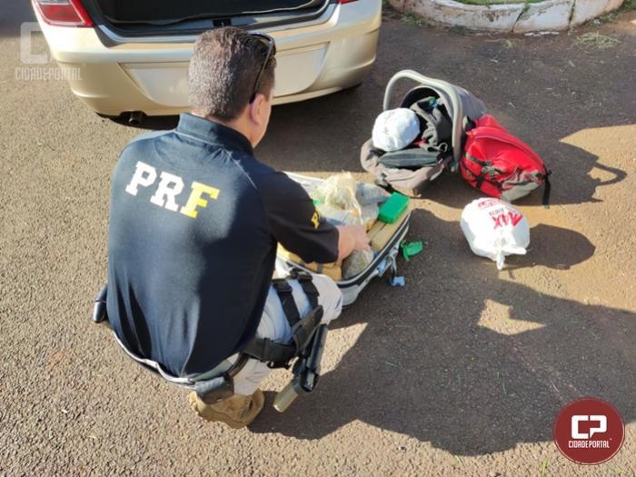 PRF prende 3 pessoas a apreende 21,5 kg de Maconha em Céu Azul