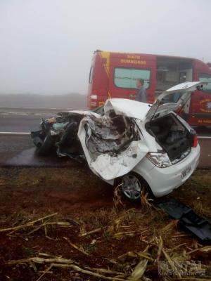 Divulgado o nome das vítimas do acidente na BR-163 em Toledo