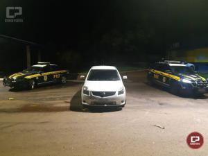 PRF recupera veículo que foi roubado em Curitiba