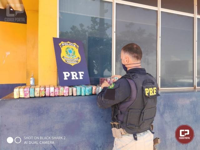 PRF apreende maconha escondida na estrutura lateral de veículo em Santa Terezinha de Itaipu