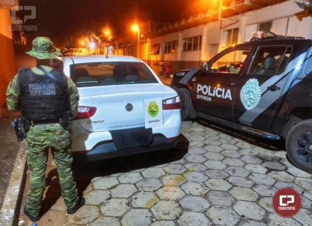 BPFron recupera, em Foz do Iguaçu, veículo que foi furtado na cidade de Curitiba