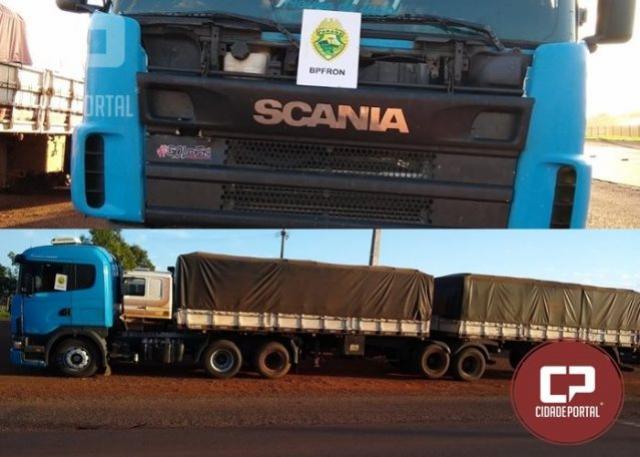 BPFRON apreende Bi-trem com placas clonadas em Marechal Cândido Rondon