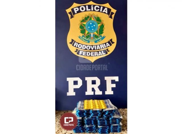 PRF prende mulher com medicamentos ilegais escondidos em Santa Terezinha de Itaipu